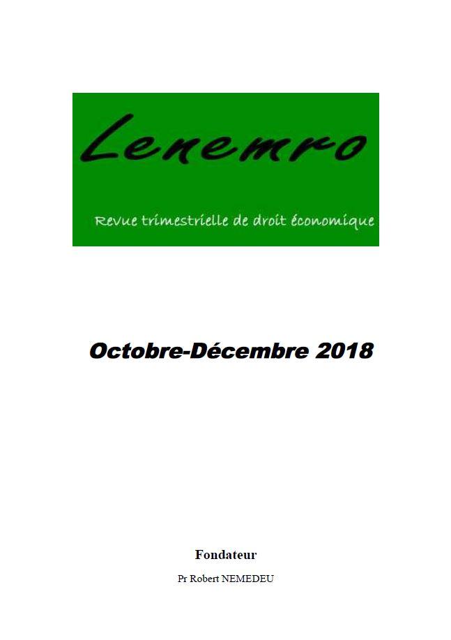 Revue Octobre-Décembre 2018