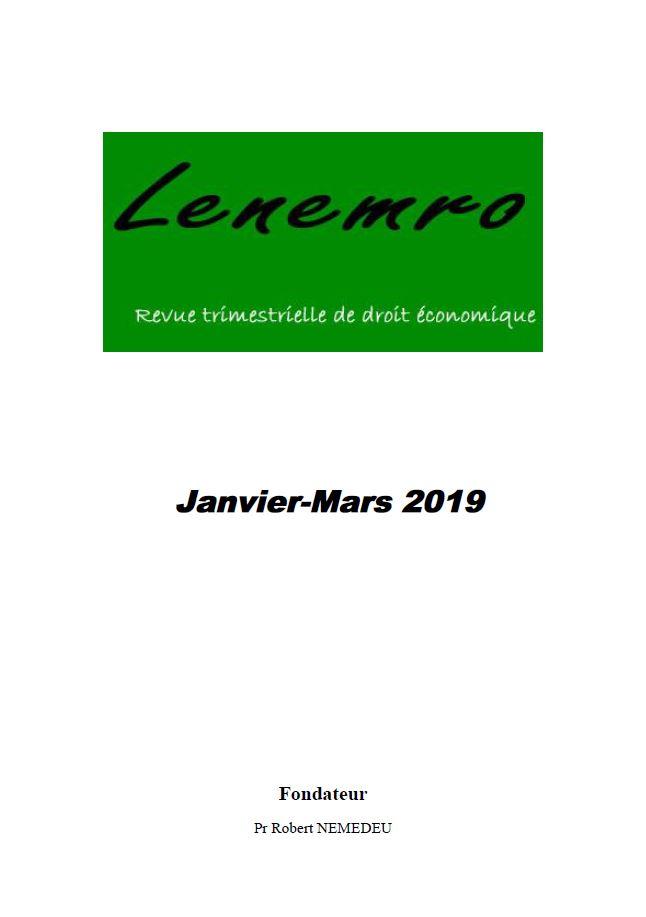 Revue Janvier-mars 2019