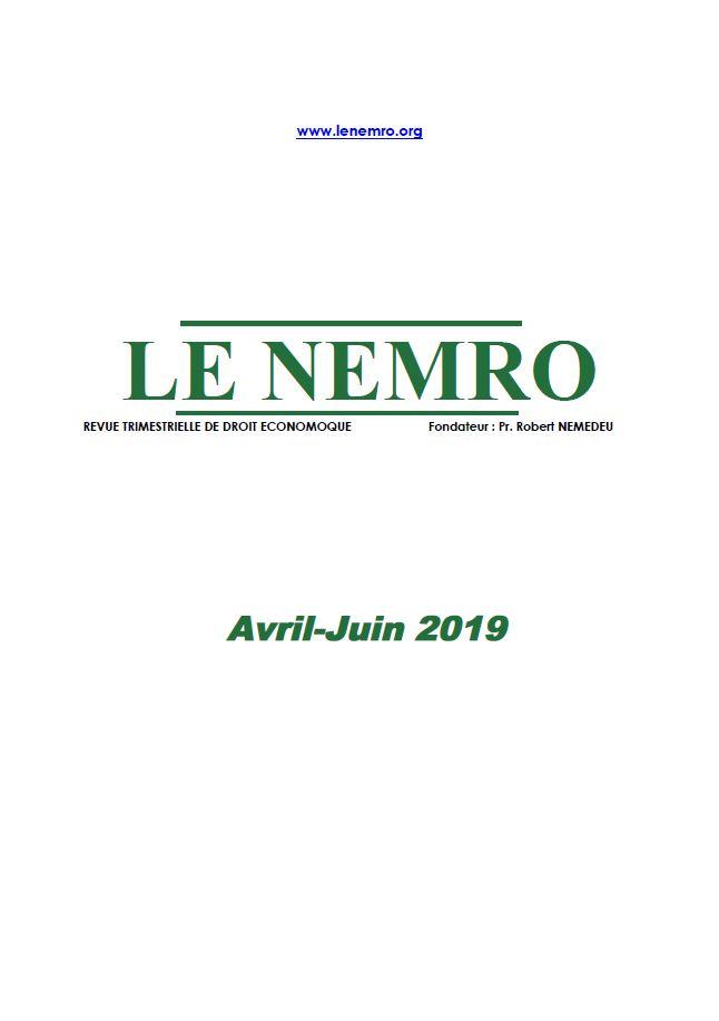 Revue Avril-Juin 2019