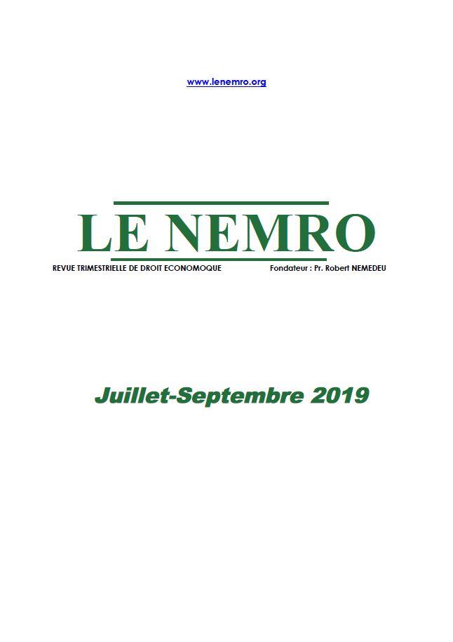 Revue Juillet-Septembre 2019