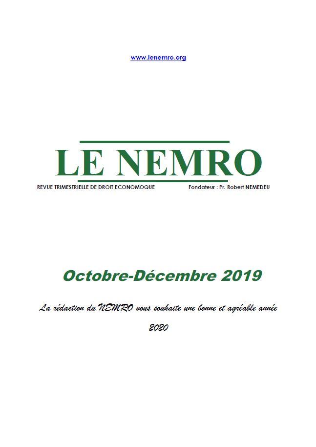 Revue Octobre-Décembre 2019