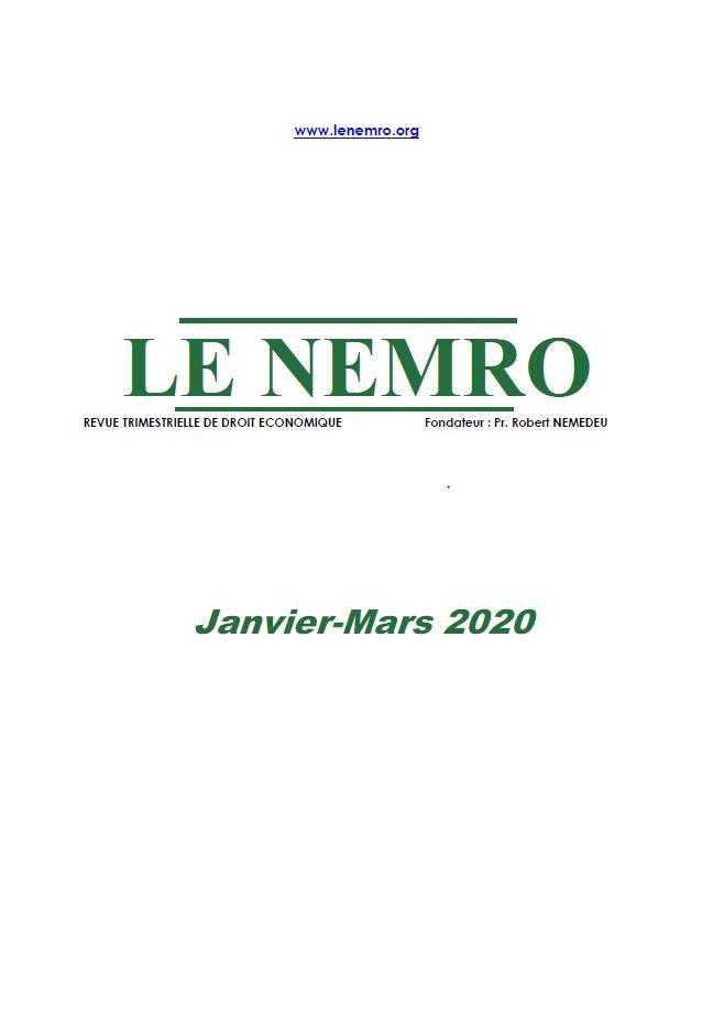 Revue Janvier-mars 2020