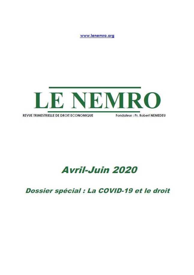 Revue Avril-Juin 2020