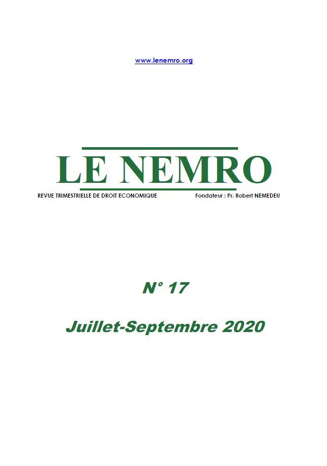 Revue Juillet-Septembre 2020