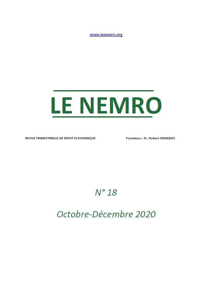 Revue Octobre-Décembre 2020
